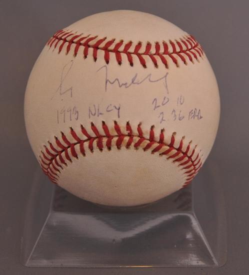 Chicago Cubs Greg Maddox Signed Baseball with JSA COA