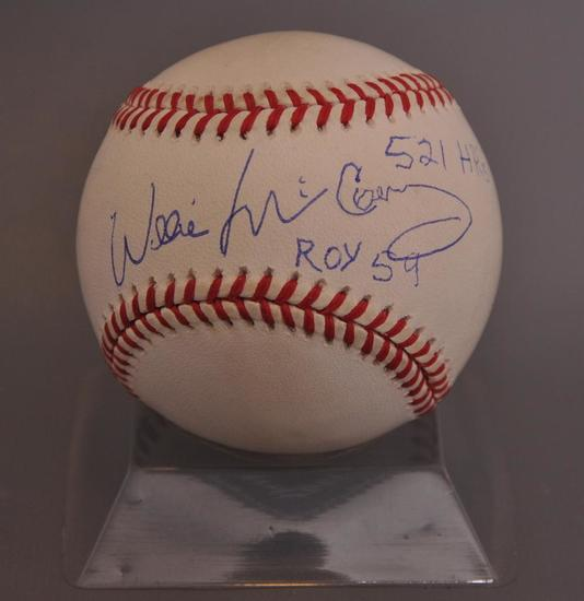 San Francisco Giant Willie McCovey Signed Baseball with JSA COA