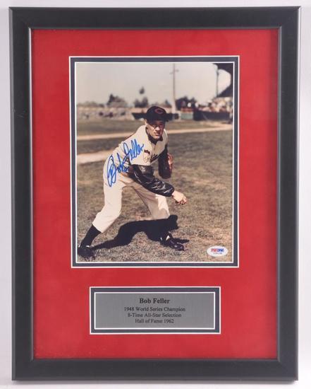 Cleveland Indian Bob Feller Signed Photograph with PSA DNA COA