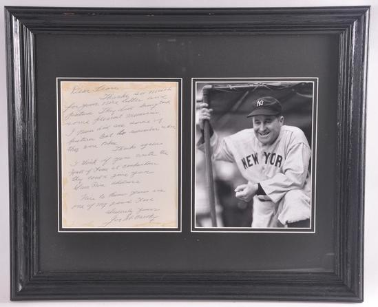San Francisco Giant Joe McCarthy Signed Letter with Photograph and JSA DNA COA