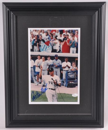 Chicago White Sox Carlton Fisk Signed Photograph with JSA COA