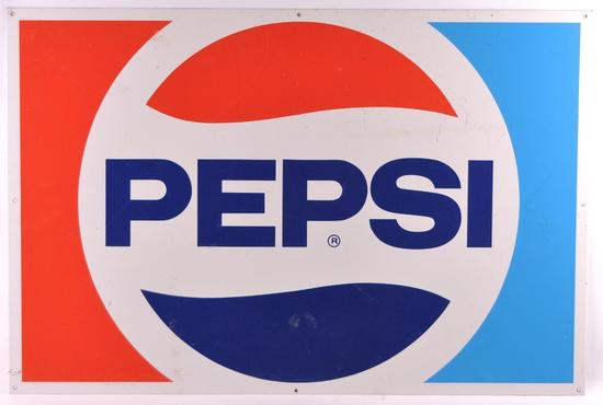 Vintage Pepsi Cola Advertising Metal Sign