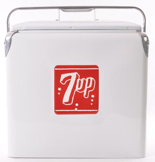 Vintage 7up Advertising Metal Cooler