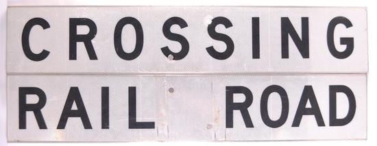 Railroad Crossing 2 Piece Sign