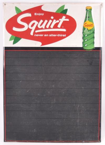 Vintage Squirt Advertising Metal Chalkboard Sign