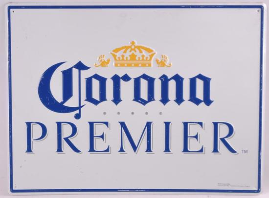 Corona Premier Advertising Metal Beer Sign