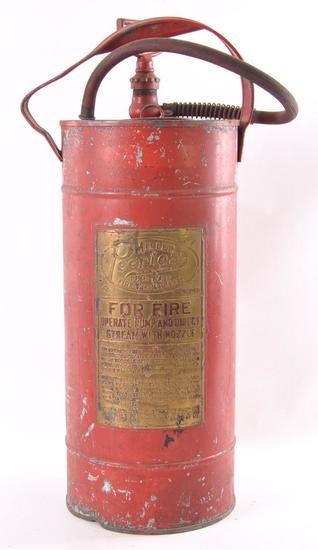 Vintage Miller Peerless Fire Extinguisher