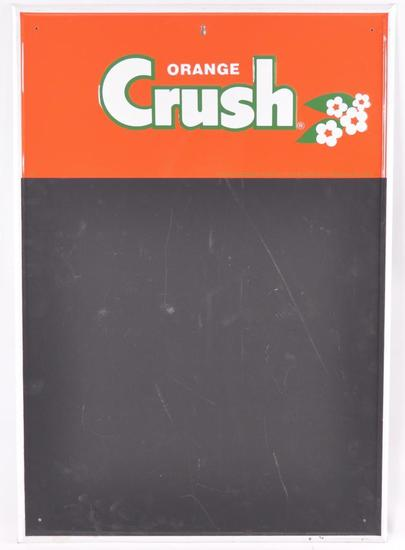 Vintage Orange Crush Advertising Metal Chalkboard Sign