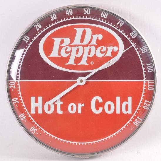 Vintage Dr. Pepper Hot or Cold Advertising Thermometer