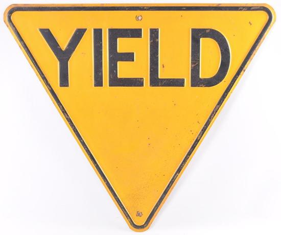 Vintage Yield Metal Street Sign