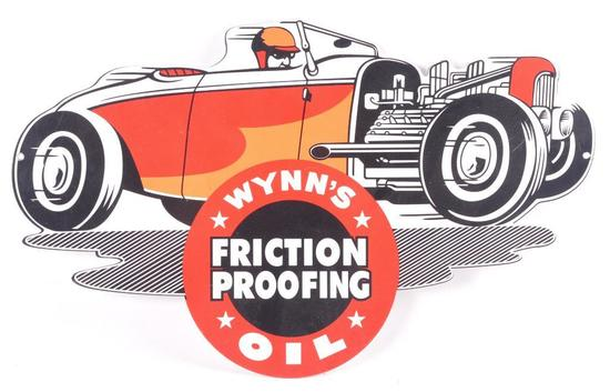 Wynn's Friction Proofing Oil Advertising Metal Sign
