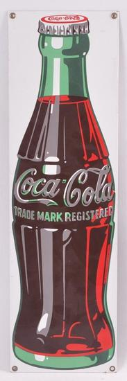 Modern Coca Cola Advertising Porcelain Enameled Metal Sign