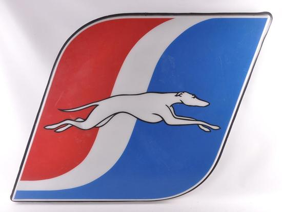 Greyhound Bus Lines Exterior Advertising Plastic Sign