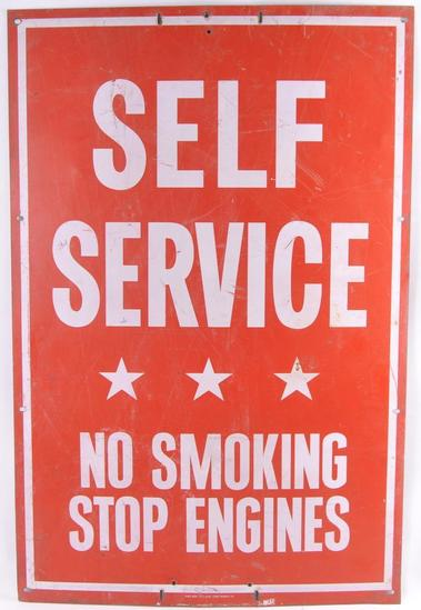 Vintage Self Service Metal Sign