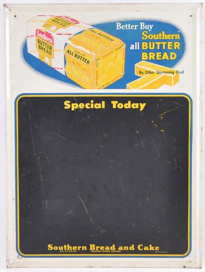 Vintage Southern Butter Bread Advertising Metal Chalkboard Sign
