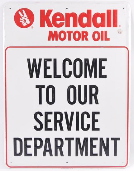 Kendall Motor Oil Embossed Advertising Metal Sign