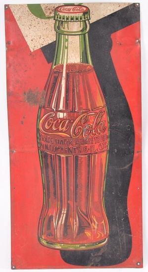 Vintage Coca Cola Advertising Metal Cut Off Sign