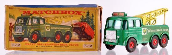 Matchbox King Size K-12 Heavy Breakdown Wreck Truck Die-Cast Vehicle with Original Box