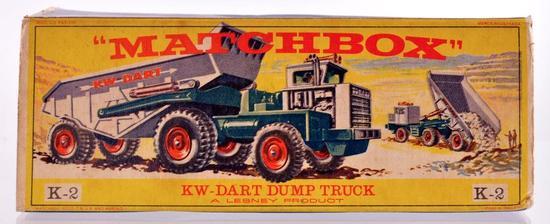 Matchbox King Size K-2 KW Dart Dump Truck Die-Cast Vehicle with Original Box