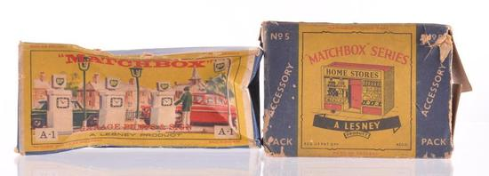 Group of 2 Matchbox Accessory Packs with Original Boxes
