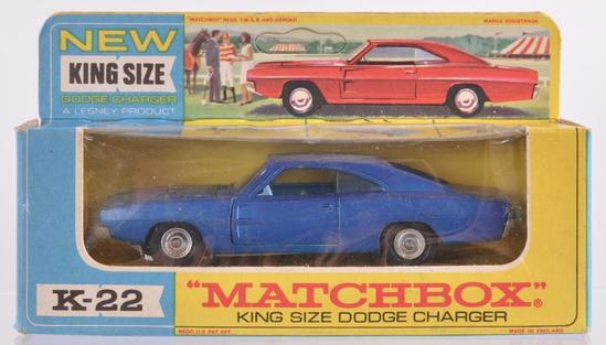 Matchbox King Size K-22 Dodge Charger Die-Cast Vehicle with Original Box
