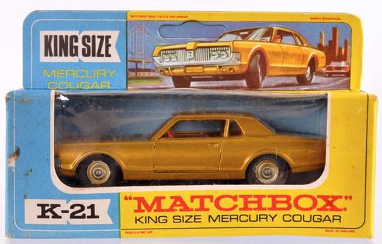Matchbox King Size K-21 Mercury Cougar Die-Cast Vehicle with Original Box