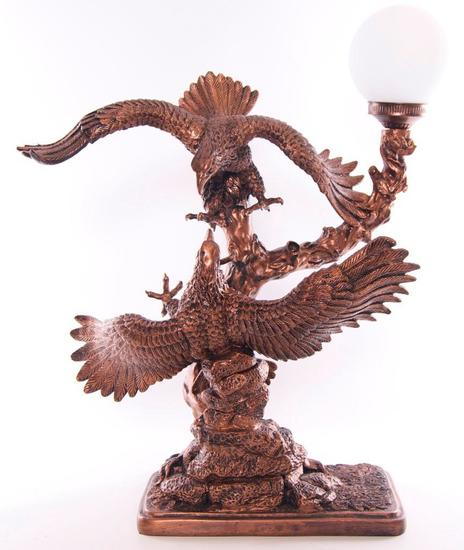 "Vintage ""The Vision"" Eagles Clashing Table Lamp"