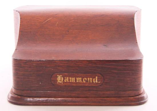 Antique Hammond Typewriter with Oak Case