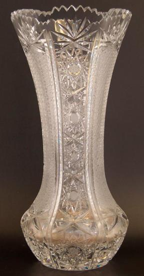 Antique Cut Crystal Vase