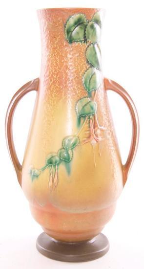 """Vintage Roseville """"Fuschia"""" Floor Vase (905-18)"""
