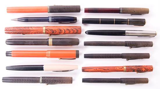 Group of 14 Antique Fountain Pens