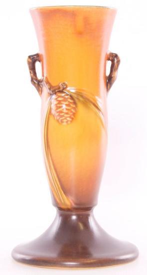 """Vintage Roseville """"Pinecone"""" Vase"""