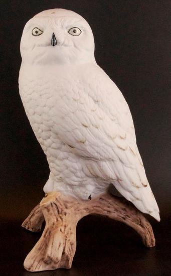 Vintage Porcelain Owl Statue
