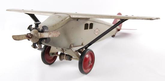 Antique Steelcraft Pressed Steel NX130 Aeroplane Pull Toy
