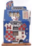 Antique Mills Novelty Co. 25 Cent Castle Front Slot Machine