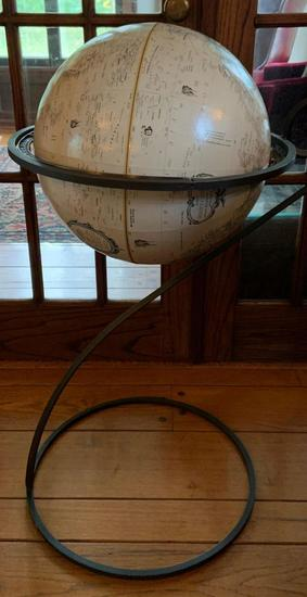Vintage Globe with metal stand