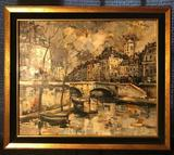 Artist signed Oil Painting : J Warner