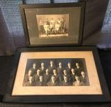 2 framed photos circa 1900 of Momence IL students
