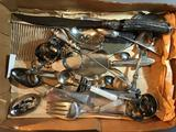 Group of Vintage flatware and other serving pieces