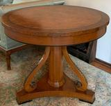 Antique Burkes walnut side table