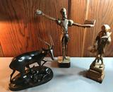 Group of 3 Vintage wooden figurines/animals