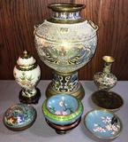 Group of Vintage Asian Cloisonne items