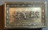 Vintage German Sterling Silver Trinket Box with hinged lid