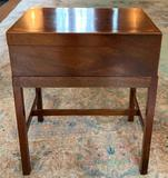 Walnut side table chest