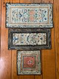 Group of 3 : Antique Oriental Tapestries