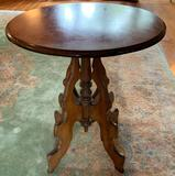 Antique wooden lamp table