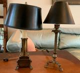 Group of 2 small table lamps