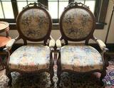 Group of 2 Antique Parlor Chairs