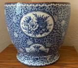 Vintage Flow Blue Jardinaire