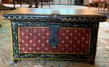 Chest with painted floral design